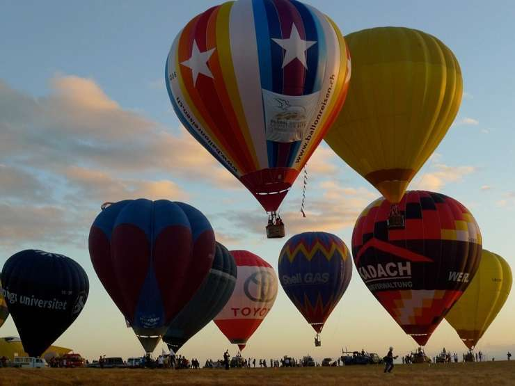 The annual Philippine International Hot Air Balloon Fiesta in the city of Angeles in Pampanga
