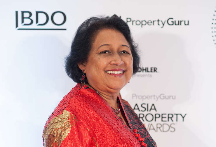 Prof. Chitra Weddikkara, managing director at QServe Pte Ltd, at the 2017 PropertyGuru Asia Property Awards grand final in Singapore