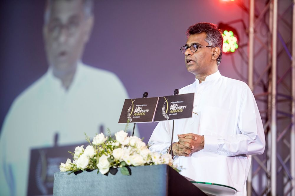 Sri Lanka's Hon. Patali Champika Ranawaka, M.P., Minister of Megapolis & Western Development, was the evening's chief guest and keynote speaker