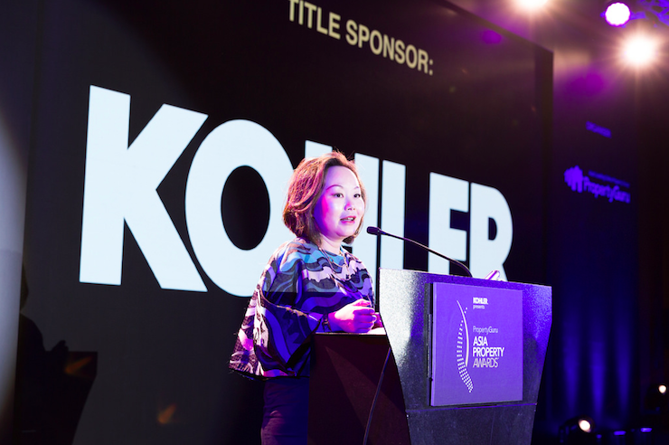 Angel Yang, president of Kohler Co Kitchen and Bath Asia Pacific, at the 2017 PropertyGuru Asia Property Awards gala dinner in Singapore