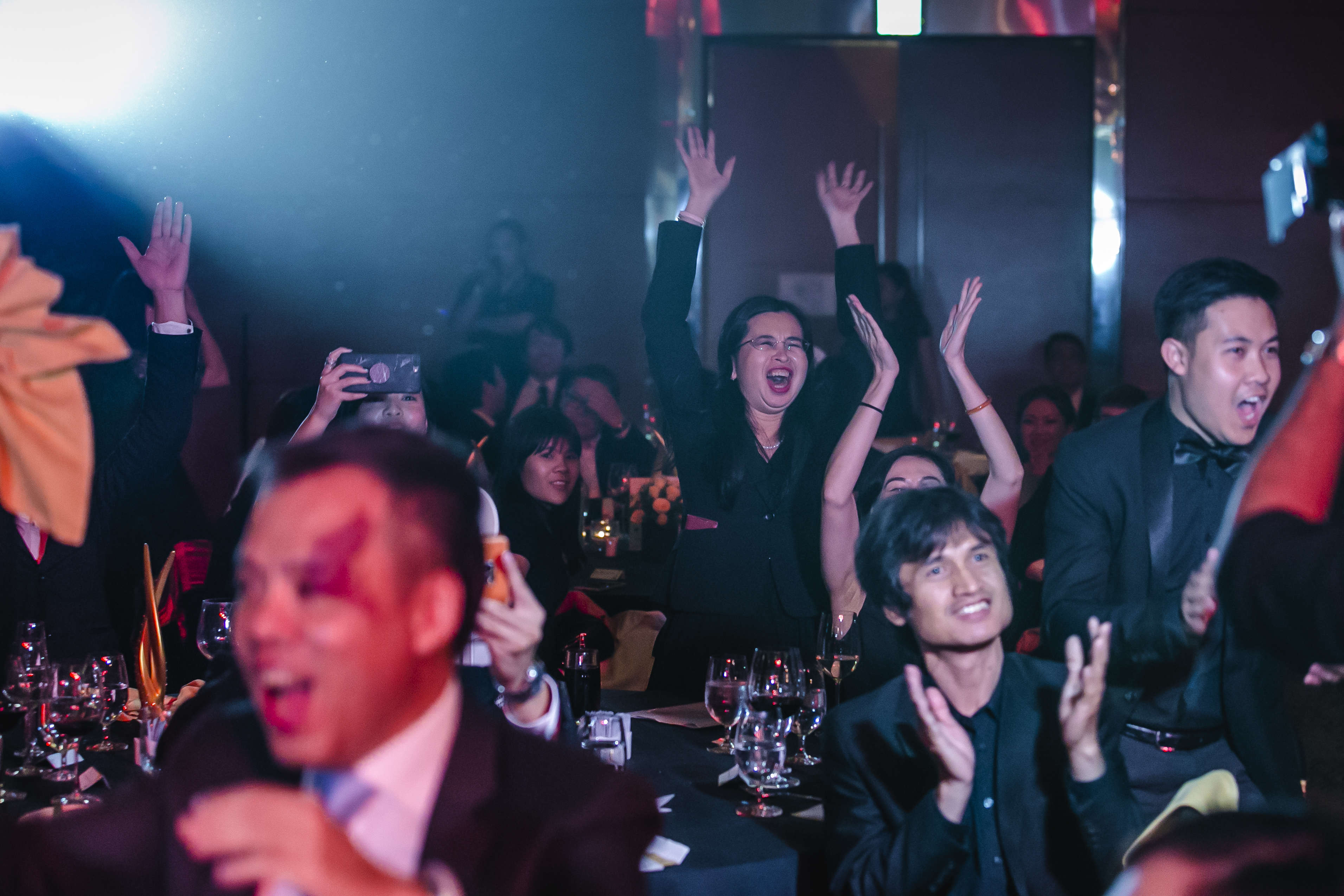 Delegation from CapitaLand Vietnam at the 2017 PropertyGuru Vietnam Property Awards gala dinner in HCMC