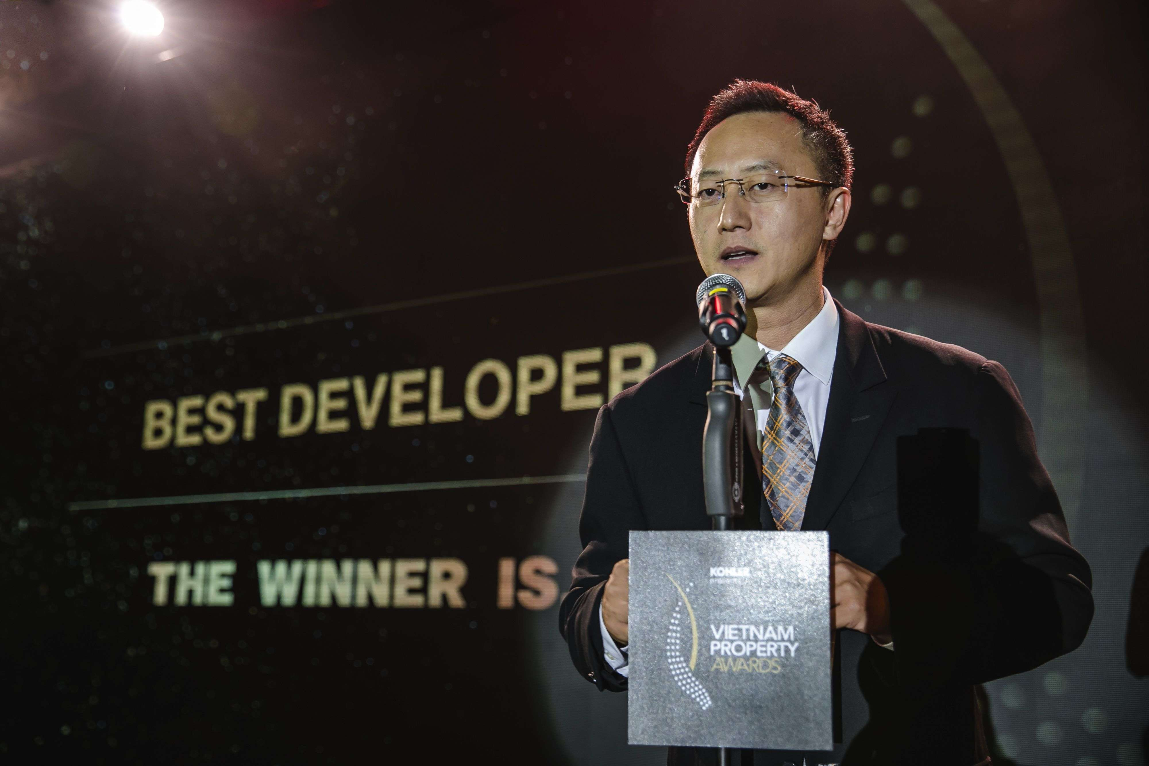 Transform Architecture's Thien Duong at last year's PropertyGuru Vietnam Property Awards