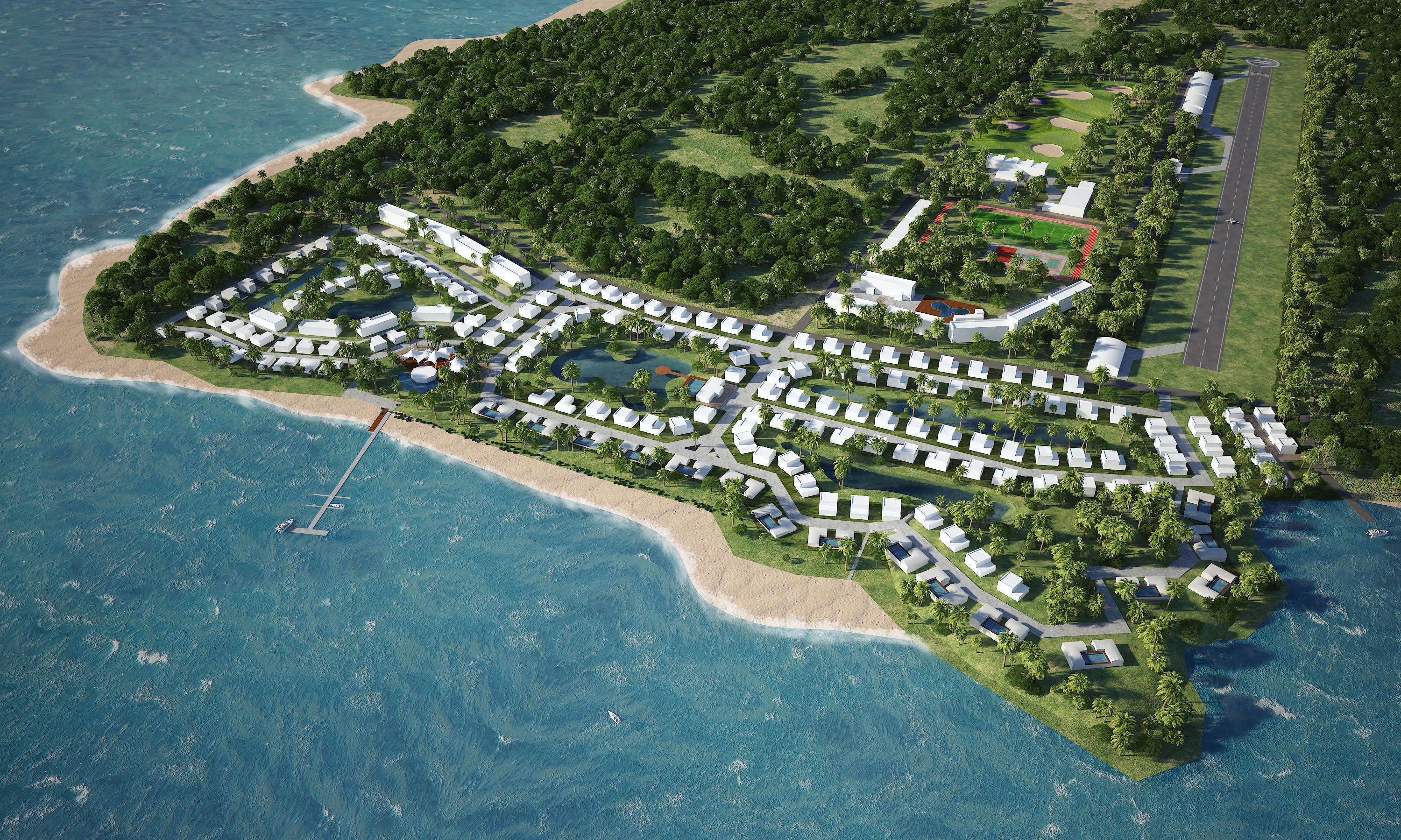 SRV's masterplan of a prime beach lot in Koh Mak, Thailand