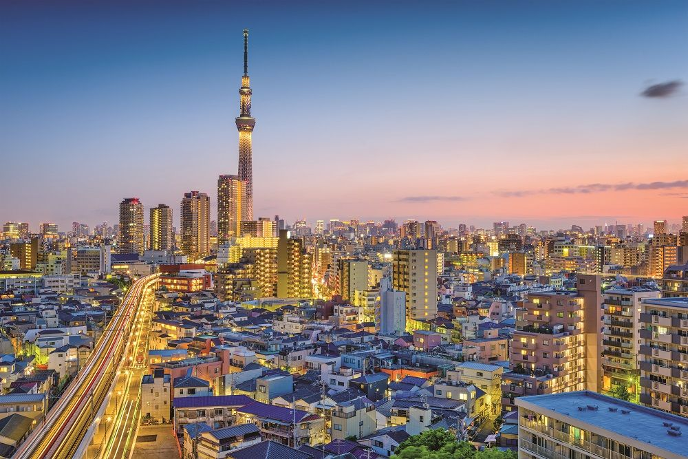 The Tokyo Skytree dominates the skyline in the city's Sumida district, one of many in the centre of the Japanese capital that are proving attractive to buyers