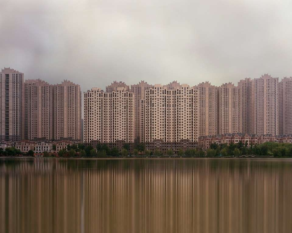 Largely unoccupied buildings in the Meixi Lake Development. Image credit: Kai Caemmerer