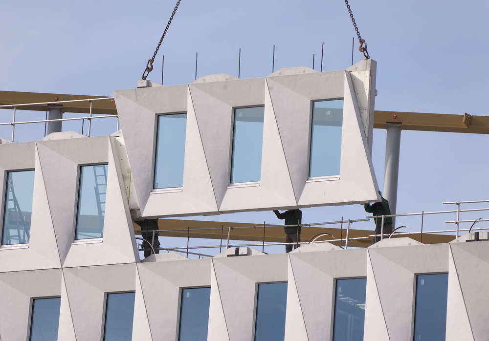 Prefab construction, likened to building with Lego, can increase productivity by as much as 40 percent. Image: Rob Kints/Shutterstock