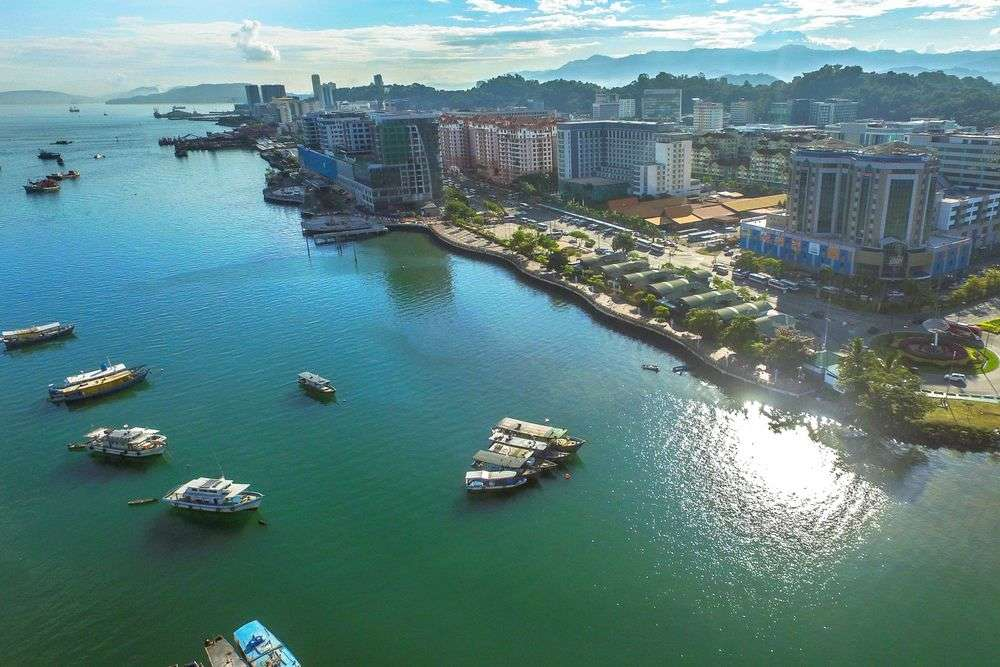 Kota Kinabalu, the capital of the state of Sabah in east Malaysia, is seen as one of the nation's rising stars for development. hkhtt hj/Shutterstock