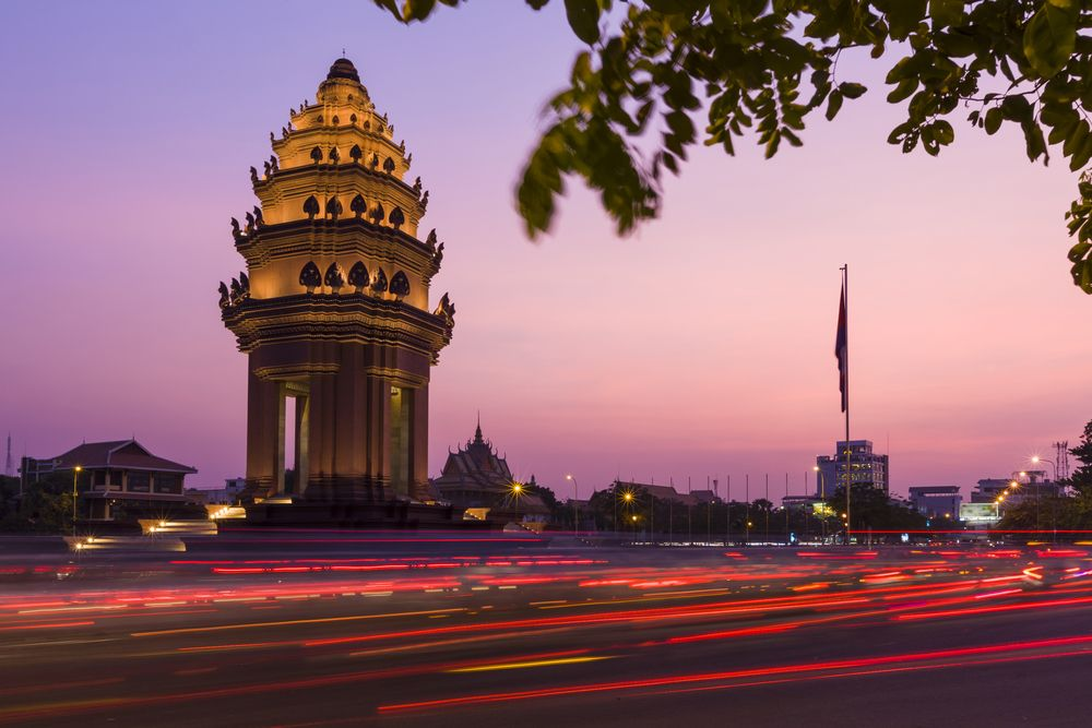 Independence Monument in Phnom Penh, Cambodia. Peter Stuckings/Shutterstock