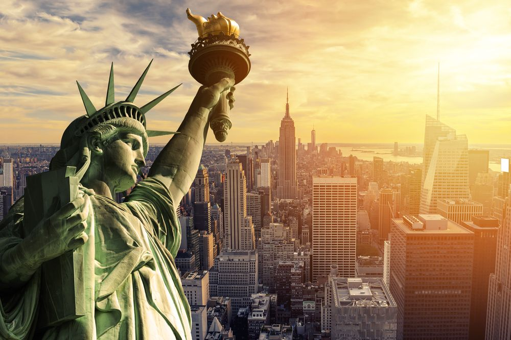 The Statue of Liberty in New York City. cla78/Shutterstock