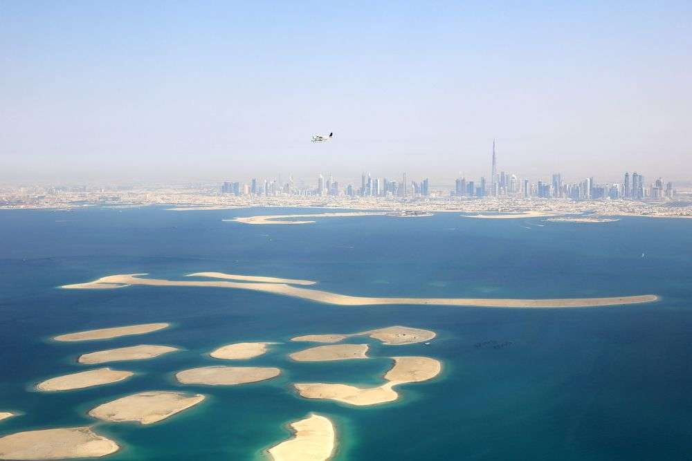 The World Islands off the coast of Dubai, UAE. Markus Mainka/Shutterstock