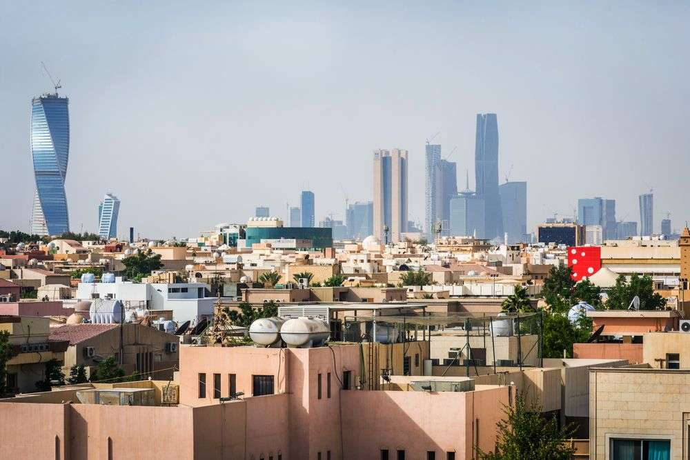 The Riyadh skyline as seen from the city's Worood district. Ali Al-Awartany/Shutterstock