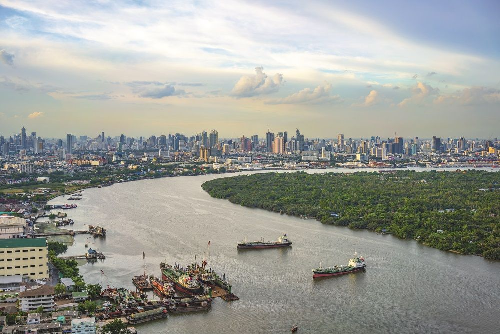 The Chao Phraya River in Bangkok has become a centre for the construction of new condominiums and hotels in Thailand's desirable capital
