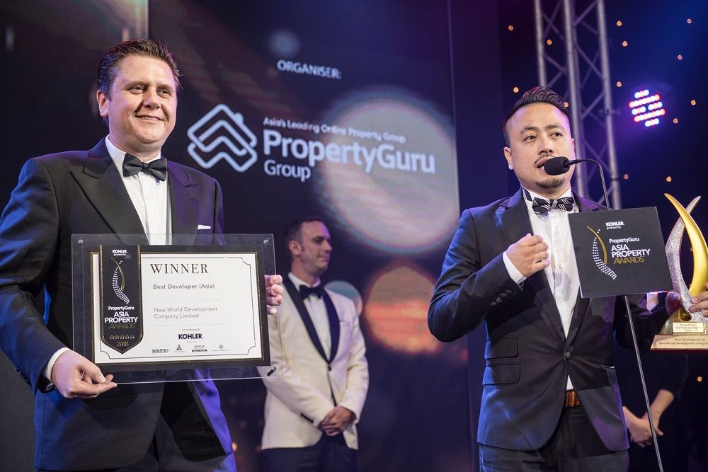 New World Development won the highly competitive Best Developer category at the PropertyGuru Asia Property Awards Grand Final